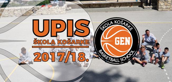 UPIS u Školu Košarke GEN, 2017/18.